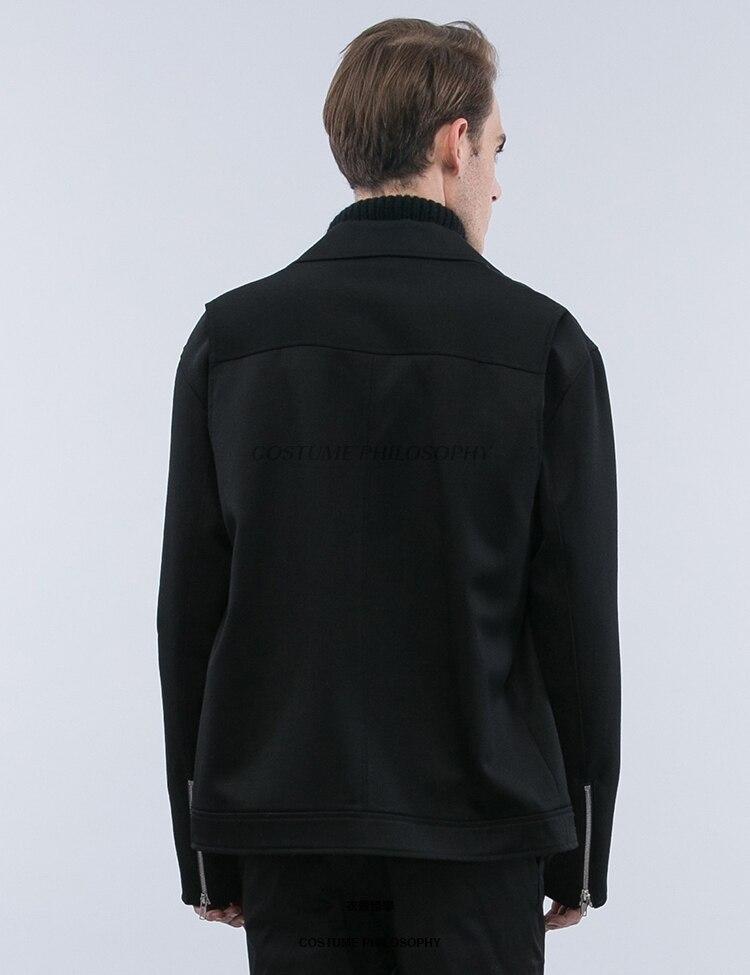 Mode Nouveau Cheveux Classique Slim Taille 5xl Moto Hommes Blouson Costumes Grande Chanteur 2017 Manteau Gd Xs Noir Vêtements Styliste Passerelle wOXnP08k