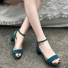 soulier femme toe shoes woman Solid Color strappy heels gladiator sandals women new arrival all match tacones sandalias tip