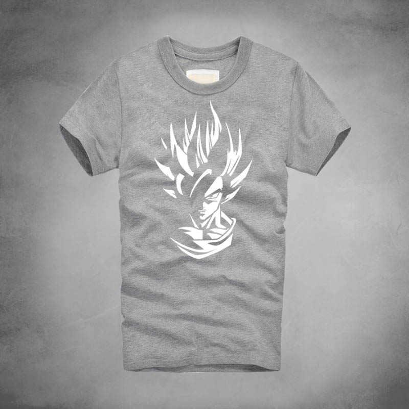 200 г чесаный хлопок настроить аниме Dragon Ball Z Футболка мужская повседневная футболка Супер Saiyan Сон Гоку уличная camiseta hombre