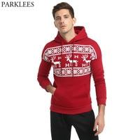 Christmas Deer Printed Hooded Sweatshirt Men Women 2017 Autumn Mens Hoodies Outwear Casual Men Sweatshirt Cotton