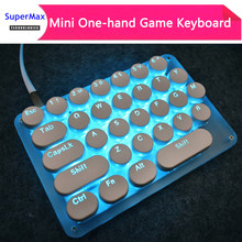 Single Hand one hand keyboard setting KEY mini mechanical game drawing keyboard 31 keys Blue RGB backlit LOL DATA Jedi survival(China)