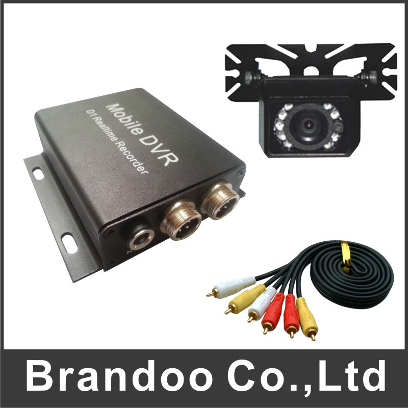 ФОТО Hot sale 1 channel TAXI DVR kit, including 2pcs DVR+2PCS CAMERA+2PCS Video cable, free shipping MDVR