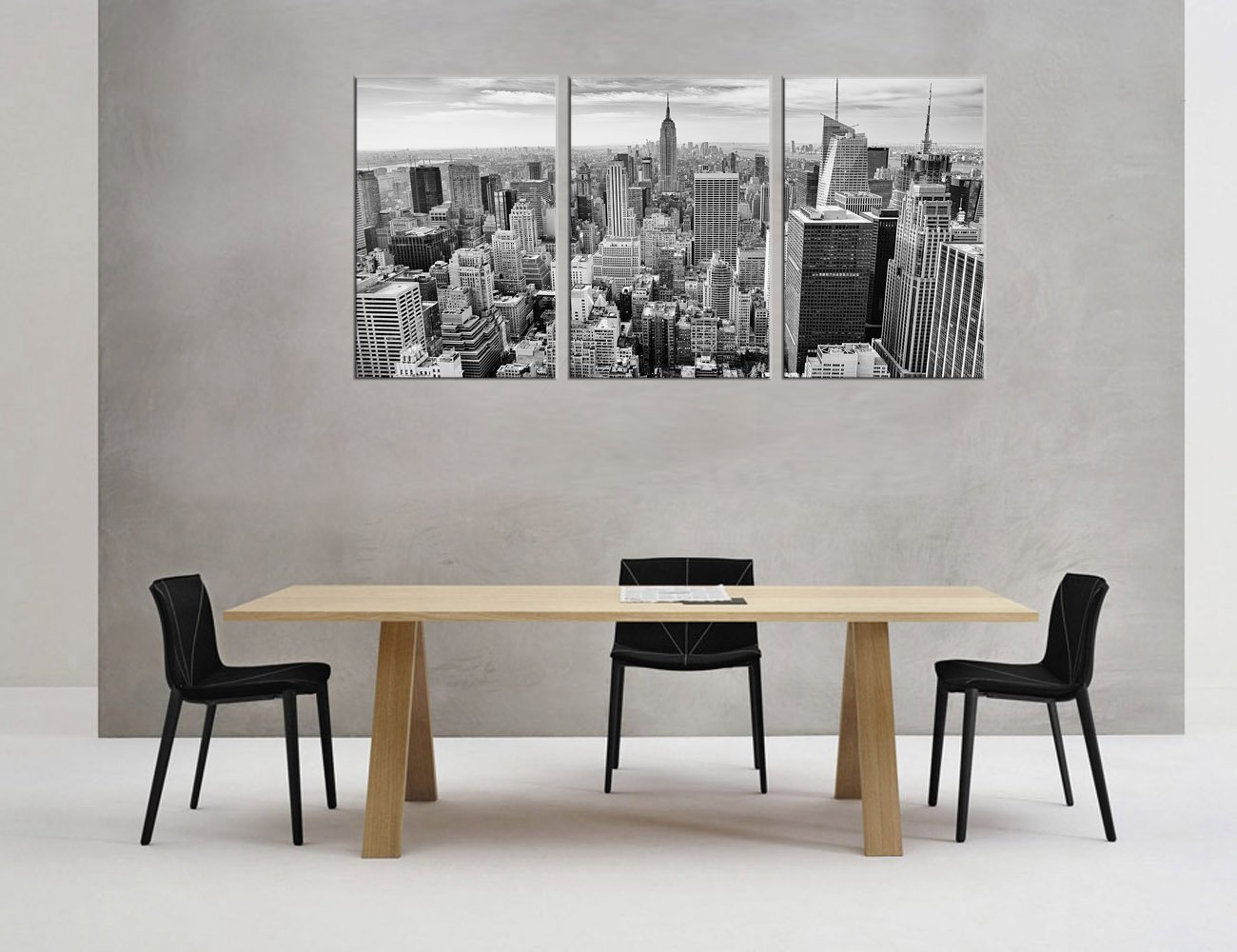 US $13 32 26% OFF|Wall Art Black and White Canvas Painting Wall Decor  Empire State Building New York City Skyline Contemporary Picture Home  Decor-in
