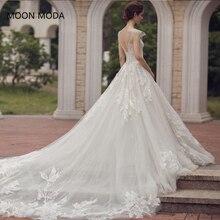 Купить с кэшбэком long half sleeve muslim lace wedding dress high quality 2019 bride simple bridal gown real photo weddingdress vestido de noiva