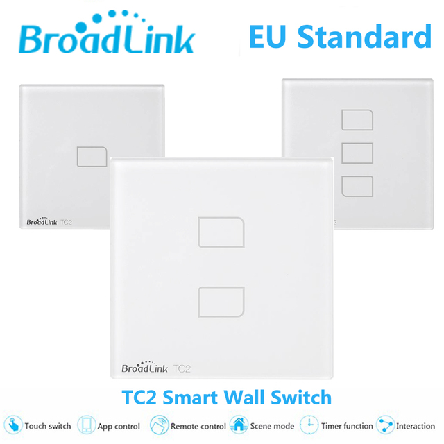 Broadlink tc2 padrão da ue 1 2 3 gang interruptor de parede lâmpadas de luz de controle remoto móvel via broadlink rm pro, cristal de vidro, domotica