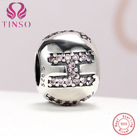 100% Authentic 925 Sterling Silver Faith Charm Beads Fit Charms Pandora Bracelet DIY Original Silver Jewelry Making Accessories