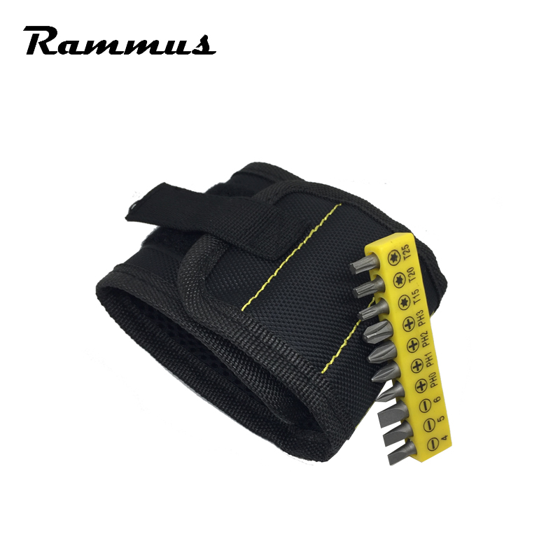 US $5 99 49% OFF|Strong Magnet Magnetic Wristband Pocket Tool Bag Belt  Pouch Screws Drill Bit Holder Auto Car Drilling Hand Repair Wrist Tools-in  Tool