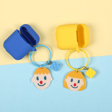 Cute Cartoon Couple boy girl avatar Keychain Key Ring Headphone Earphone Case For Apple Airpods Accessories cute silicone cover стоимость