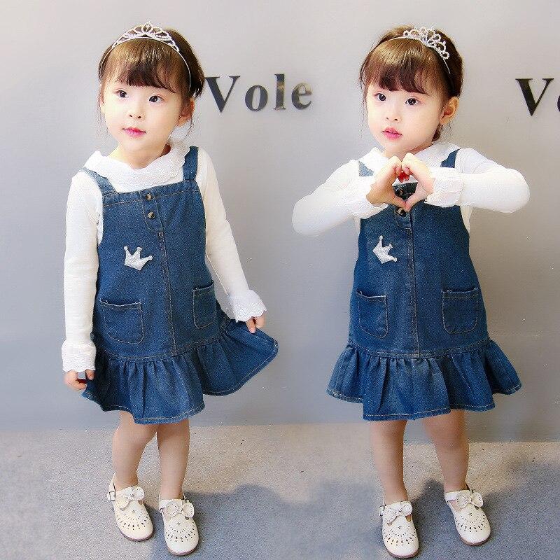 Mädchen Kleidung Neue Frühling Mädchen Kinder Röcke Sommer Mädchen Band Denim Röcke Casual Röcke Mode Mini Kleider Für Kinder Mädchen Kleidung 1-5y Tropf-Trocken