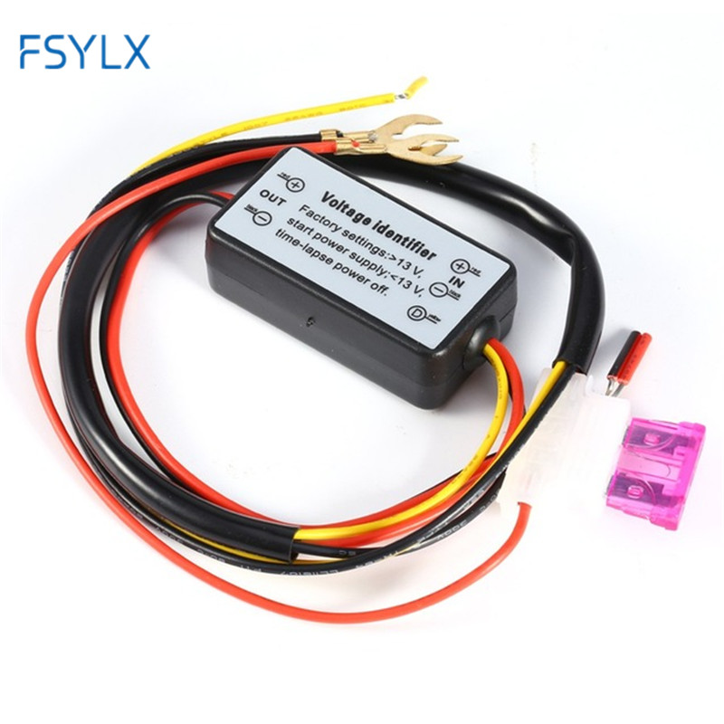 FSYLX 2pc LED DRL Controller Harness Daylight socket Auto Car LED Fog Lamp wire Daytime Running Light Relay Cable On/Off Switch h8 h11 female adapter wiring harness socket car auto wire connector cable plug for hid led headlight fog light lamp bulb