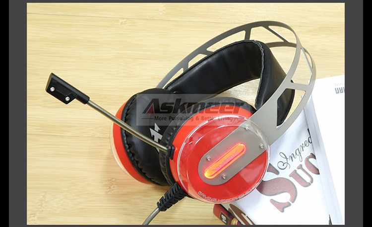 Xiberia X12 USB Gaming Headset Surround Sound Noise Canceling Luminous LED Light Over ear Headphones with Microphone for PC (8)
