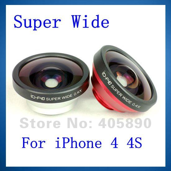 a3c6d7f6325062 Super Wide 0.4X Lens Detachable Phone Shell for iPhone 4 4S Mobile Phone  Digital Camera