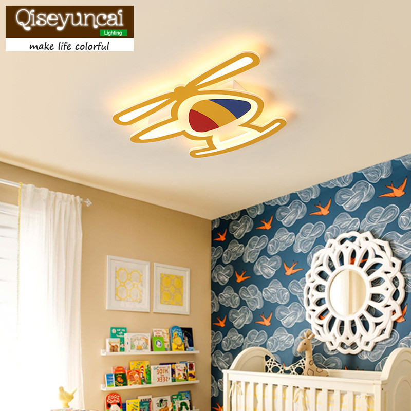 Qiseyuncai Children 39 s room lamp simple modern led ceiling lamp creative personality aircraft bedroom boy girl cartoon lamps in Ceiling Lights from Lights amp Lighting