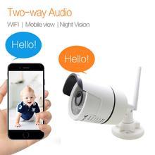 Cámara de Audio bidireccional IP Wifi Cctv, altavoz infrarrojo impermeable, cámara de vídeo de seguridad de vigilancia inalámbrica 720P 960P 1080P JIENUO