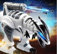 Лидер продаж Intelligent динозавр игрушечные лошадки прогулки беспроводной Дистанционное управление Электрический Bionic динозавр RC со звуком, му