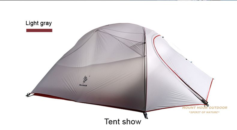 Pole material Aluminum alloy. Color light grey. Net weight 1.8kg(not inclued tent pegstent poleswindropes)Gross Weight2.5KG  sc 1 st  AliExpress.com & Hillman 3 Person Tent 20D Silicone Fabric Ultralight Double Layers ...