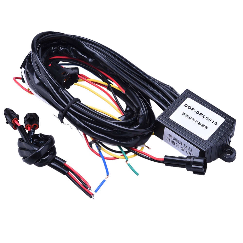 16W Car Led Daytime Light Auto ON/OFF DRL Controller Wire Auto With Flash Reduce Light with Synchronous steering function g126y 2pcs red led light 25 31mm spst 4pin on off boat rocker switch 16a 250v 20a 125v car dashboard home high quality cheaper