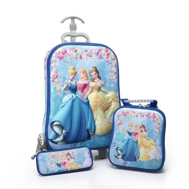 3D стерео горячие троллейбус случае Симпатичные Большой Герой 6 детей Путешествия чемодан мальчик девочка мультфильм Обед сумка пенал Мстители детей подарок