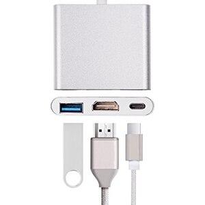 Image 2 - 3 in 1 Tipi C 4 K HD HDMI USB 3.0 Hub Harici Güç USB 3.1 Tipi C Hub yüksek hızlı USB 2 Port Hub ile HDMI 4 K ve Güç Adaptörü