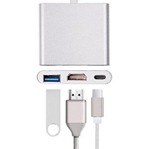 Image 2 - 3 in 1 Type C 4K HD HDMI USB 3.0 Hub External Power USB 3.1 Type C Hub high Speed USB 2 Port Hub with HDMI 4K and Power Adapter