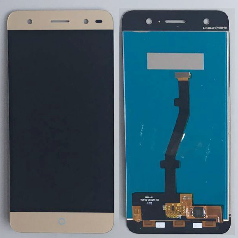 Подробнее о Gold LCD Display Glass Touch Screen Digitizer Assembly Replacement For ZTE Blade V7 Lite white black for zte blade a610 td lte lcd display touch screen digitizer assembly replacement free shipping