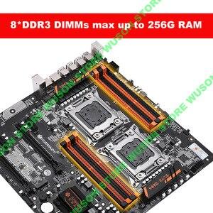 Image 5 - Huananzhi X79 8Dデュアルcpuソケットのマザーボード販売良いとnvme ssd M.2スロット2ギガイーサネットポート8 DDR3 dimm
