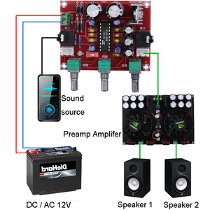 Image 2 - AC DC 12V R1075 Tone Board BBE Digital Audio Pre amplifier Processor Actuator Preamp Amplifier F1 014