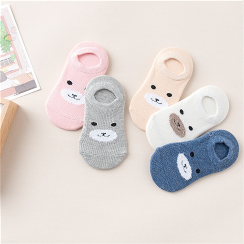 5 Pair/Lot Free Shipping Baby Girls Boy Socks Wholesale Unisex Non Slip Baby Socks Infant Socks 0-3years cute sunflower pattern baby non slip socks deep pink 1 pair