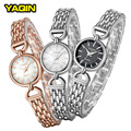 2017 YaQin luxury women's fashion simple casual watch stainless steel quartz watch Relogios Femininos7193