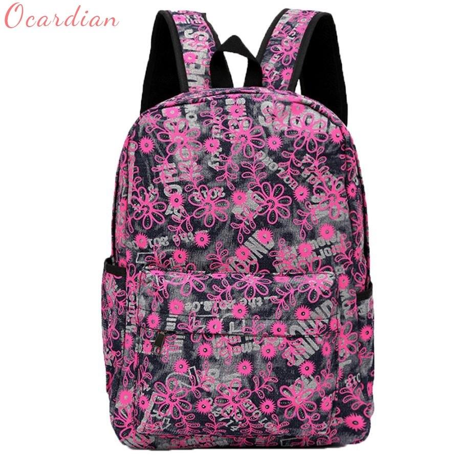 Canvas Backpack Girl Backpack Bags Liter Medium School Bag Handle Bag Oct16