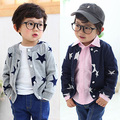 2016 spring autumn five-pointed star casual kids clothes child clothing baby boys long-sleeve top cardigan coat outwear