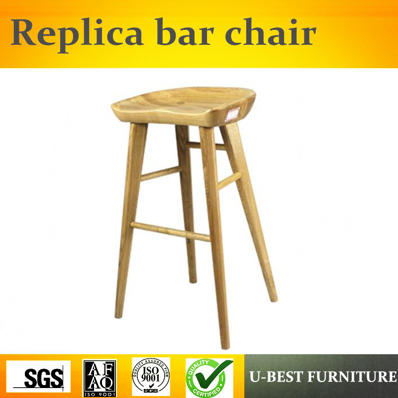 Free Shipping U-BEST Replica Modern Cafe Restaurant Wooden Nerd Bar Stool,Replica Designer Furniture
