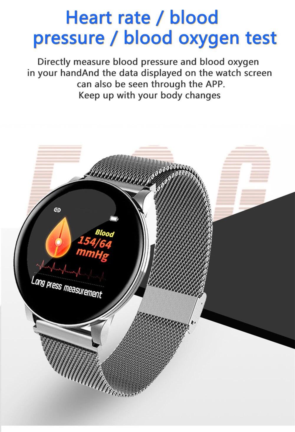2019 mulheres relógio inteligente masculino pressão arterial
