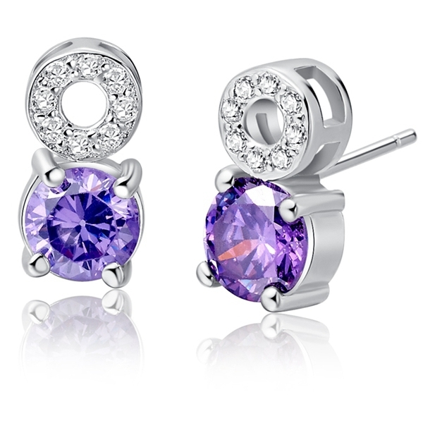 Crystal Earring Simulated Diamond Stud Brincos Pendientes Bijoux Jioas Vintage Brand  Gift for Girl Free Shipping Ulove R669