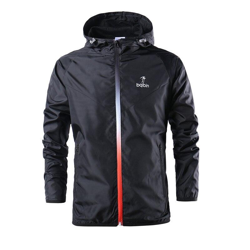 New Brand Fashion Spring Autumn Windbreaker Jacket Men Casual Sportswear Hooded Coats Male Windproof Jacket Zipper Thin Coats
