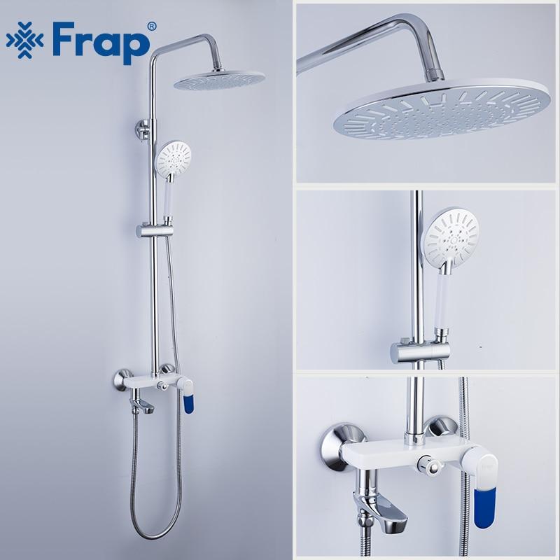 FRAP Shower faucets bathroom shower mixer bath shower faucet taps bath shower head set bathtub faucet