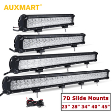Auxmart 7D 23″ 28″ 34″ 40″ 45″ led light bar straight combo beam offroad driving lamps car truck trailer SUV ATV 4×4 4WD DRL Bar