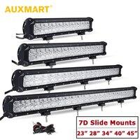 Auxmart 7D 23 28 34 40 45 свет бар прямо combo Луч offroad вождения лампы автомобилей прицеп ATV внедорожник 4x4 4WD DRL бар