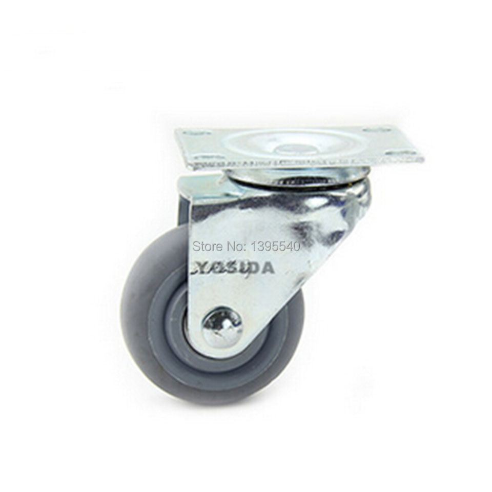 New 3'' Swivel Wheel Caster Industral Wheel Artificial Rubber Castors 360 Degree Heavy Casters Medical Castors new 4 swivel wheels caster industrial castor universal wheel artificial rubber heavy casters brake 360 degree rolling castors