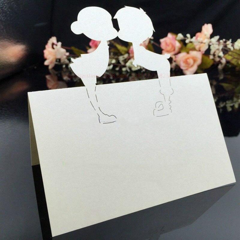 100% Kwaliteit 100 Pc Wedding Party Zitplaatsen Decoratie Tafel Decor Naam Plaats Kaarten Tafel Naam Bericht Bruiloft Plaats Kaarten 6zsh231