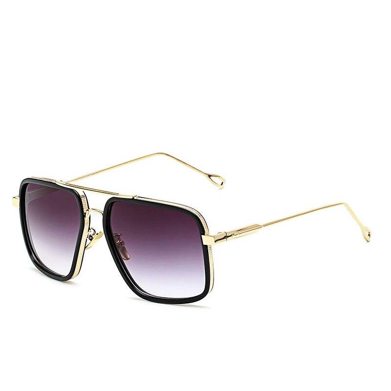 Grandes del marco hombres mujeres Gafas De Sol Vintage marca De lujo ...
