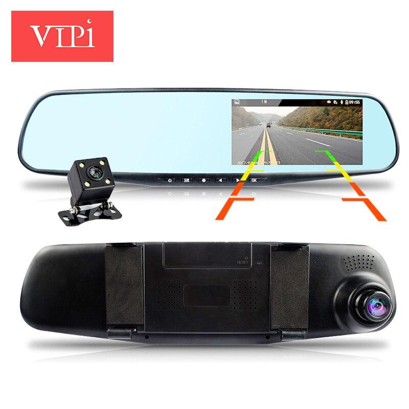full hd 1080p dual lens mirror car camera rearview auto dvrs cars dvr night vision parking video ...