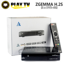 20 Unids ZGEMMA H.2S TV Satélite Caja Gemelo Receptor DVB S2 sintonizador Enigma2 Linux OS 2000 DMIPS Procesador CPU BCM7362 Set Top caja