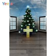 Yeele Christmas Family Party Decor Cross Tree Attic Photography Backdrops Personalized Photographic Backgrounds For Photo Studio