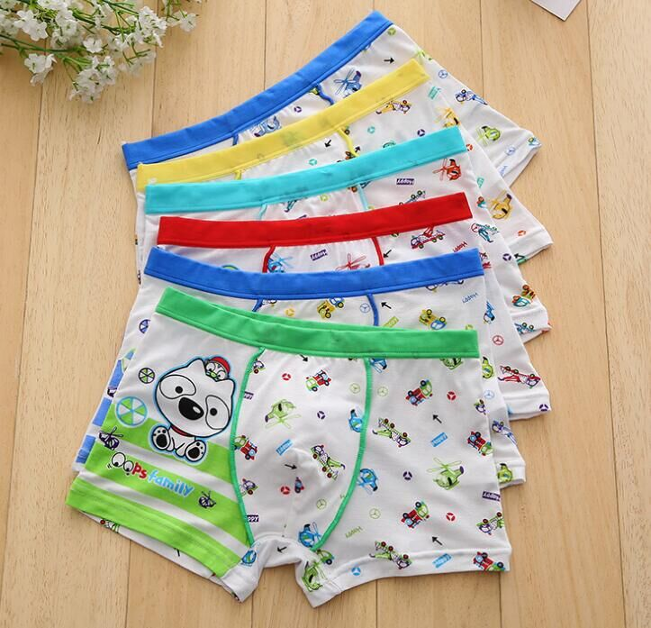4PCS/LOT Boys 100% Cotton Modal Boxer Kids Underwear Boxers Cartton High Quality Soft Modal Baby Underpants TNM0044 5piece new pure color boys kids underwear boxers mixing many children underwear modal high quality soft modal boys briefs2 16y