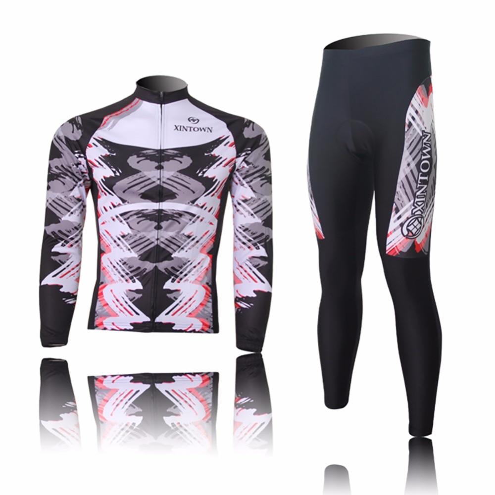 Amur Leopard Men Team Ropa Ciclismo Cycling Jersey Set Riding Wear Bike Clothing Long Sleeve T-shirt with Pants Cool shengqi men s long sleeve cycling jersey pants set green black m