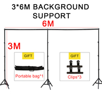 GSKAIWEN Photographic Studio Backdrop Support Stand Holder 3Mx4M/10ft x 20ft Kit With Portable Carring Bag