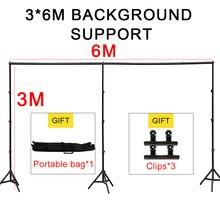 GSKAIWEN studio fotograficzne tło podpórka uchwyt 3M x 4 M/10ft x 20ft zestaw z przenośnym pojemnik do przechowywania