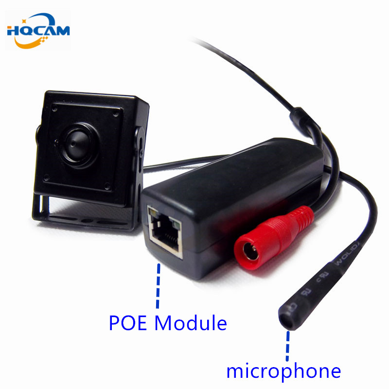 HQCAM 720P mini poe ip camera mini Microphone onvif p2p mini ip camera POE surveillance With external Power Over Ethernet все цены