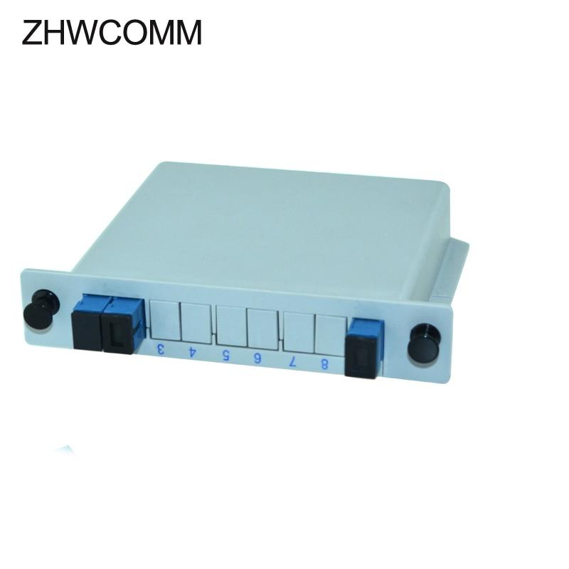 ZHWCOMM SC UPC PLC 1X2 Fiber Optical splitter FTTH PLC Splitter box Free Shipping